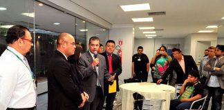 Josué Neto se encontra com a imprensa na ALEAM/Foto: Alberto Cesar