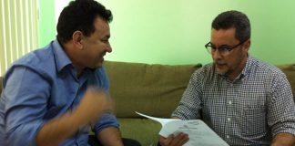 Deputado Tony Medeiros com o Reitor Cleinaldo Costa(UEA)/Foto: Arquivo