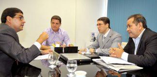 Deputado Marcos Rotta reunidos com representantes de Órgãos/Foto: Elisa Maia