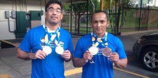 Ronnie Melo(E) e Melque Galvão(D), retornam com ouro e bronze do Panamá/Foto: Antonio Lima