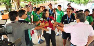Secretária Alessandra Campelo concede entrevista à imprensa/Foto: Michael Dantas