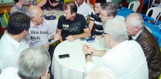 Melo reunido com prefeito Ivon Rates e empresários/Foto: Valdo Leão
