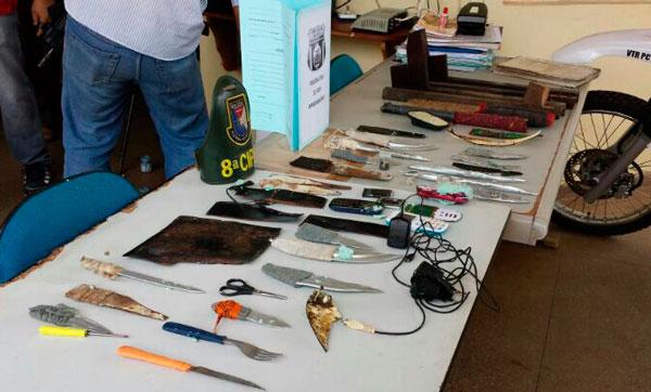 Material encontrado no DIP de Iranduba/Foto: SSP