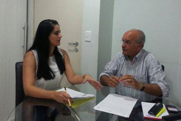 Vereadora Vilma Queiroz com o vice-governador José Melo/Foto: Divulgação
