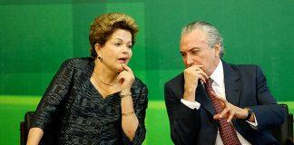 Dilma e Temer conversam durante solenidade, em Brasília/Foto: Pedro Ladeira(FolhaPress)