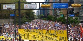 Caracas em protesto no carnaval