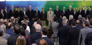 Peemedebistas não a posse de ministros/Foto: marcelo Camargo/ABr